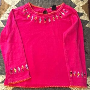 Toddler Long-sleeve Embroidered Shirt